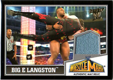 WWE Big E Langston 2013 Topps Best of Event Used WrestleMania 29 Mat Relic Card