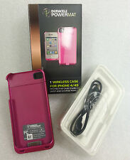 Duracell Powermat Wireless Charging Pink Case for iPHONE 4/4S
