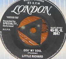 """LITTLE RICHARD ~ OOH MY SOUL b/w TRUE FINE MAMA ~ UK TRI LONDON 7"""" SINGLE"""