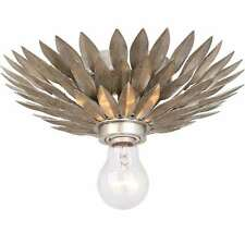 Crystorama Lighting 500-SA_CEILING Flush Mount Light In Antique Silver