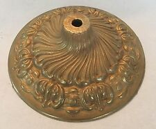 """6 1/4"""" SOLID CAST BRASS ORNATE FANCY CANOPY OR VASE CAP UNFINISHED"""