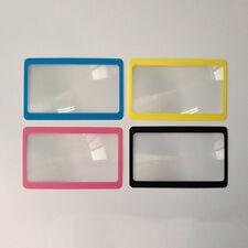 Credit Card Size Magnifier 3x Magnifying Fresnel Lens Pocket Wallet Reading High