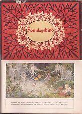 Sonntagskind von M. v. Minckwitz um 1930 sehr schön illustriert Loewes Verlag !