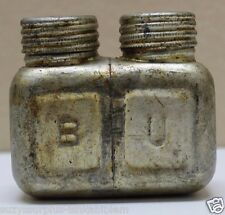 Mosin Nagant Steel Oil Bottle Two Chambers marked BU rounded edge each G917
