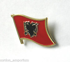 ALBANIA INTERNATIONAL COUNTRY ALBANIAN WORLD FLAG LAPEL PIN BADGE 3/4 INCH