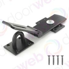 HEAVY DUTY SWIVEL Locking Bar Hasp and Staple Security Lock BLACK 250mm / 10""