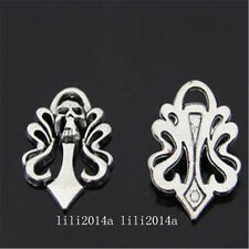 8pc Tibetan Silver skull Charm Beads Pendant accessories Findings   PL1007