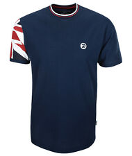 TROJAN RECORDS NAVY UNION JACK FLAG SLEEVE T-SHIRT L ENGLAND OLYMPICS LARGE
