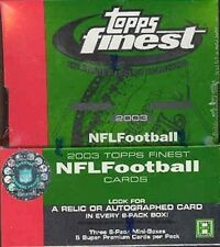 2003 Topps Finest NFL Football Hobby Box