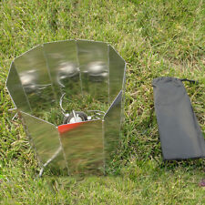 Portable Camping Gas Stove Camp Cooker Wind Guard wind deflector 10 Panel YT0029