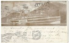Early Hudson River Dayline Rochester NY New York Robert Fulton Steamer Ship