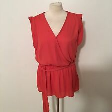 New Look Women's Burnt Orange Top Size Uk 14