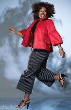 ANNE KLEIN $199 NEW Red 3/4 Sleeve Fashion Short Anorak Zip Jacket Plus 2X QCO
