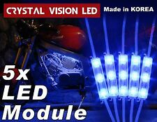 Crystal Vision LED for Motorcycle Light Strips Kit Engine-Bay Bright Blue DC12V