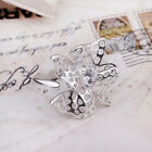 925 Silver Plated & CZ Flower Ring / Thumb Ring, Fully Adjustable Ladies Gift