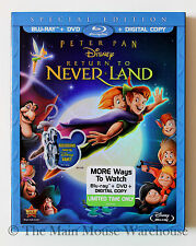 Disney Peter Pan Sequel Return to Neverland in Vault Blu-ray DVD & Digital Copy