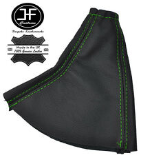 GREEN STITCH FOR HYUNDAI COUPE 1996-2001 HANDBRAKE COVER GAITER REAL LEATHER