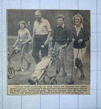 1949 Burhill Golf Course Walton On Thames Family Game Mr Mrs Frame David Patsy