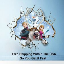 Disney Frozen 3D Breaking Through Wall Decals Stickers