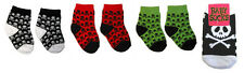 4 Pair Set Punk Rockabilly Infant Baby Socks Goth Toddler Clothing Clothes boy
