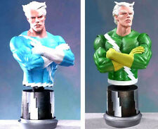 Bowen Quicksilver Blue & Green Marvel Bust Statue Set of 2 .