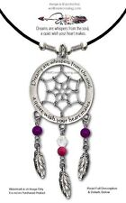 DREAMS ARE WHISPERS FROM THE SOUL DREAM CATCHER NECKLACE JEWELRY - FREE SHIP  L*