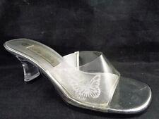 Cinderella Shoes Halloween Size 6.5M Miss Becky Clear Sandals Heels Pumps Women