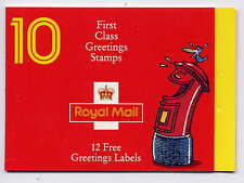 GB 1991 LAUGHING PILLAR BOX GREETINGS STAMPS BOOKLET KX3