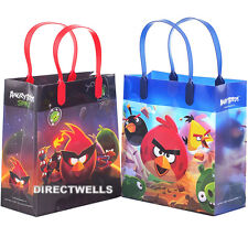 """Angry Birds Authentic Licensed Reusable Medium 8"""" Party Favor Goodie 12 Bags"""