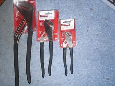 """Craftsman Arc Joint Pliers Set of 3 7"""" 9 1/2"""" & 16"""" USA New"""