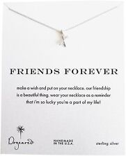 Dogeared Friends Forever Crossing Arrows Sterling Reminder Wish Boxed Necklac