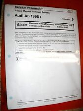 1998 AUDI A6 ELECTRICAL WIRING DIAGRAMS SERVICE MANUAL UPDATE
