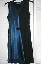 Simply Vera/Vera Wang Small Dress-Half Black/Half Blue on Front-preowned