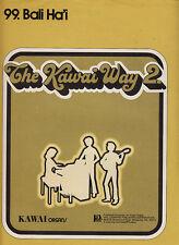 Bali Ha'i-1973-The Kawai Way-Organ-4 Page-Sheet Music