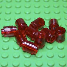 LEGO Trans Red Round Brick 1 X 1 Open Stud ( 3062b ) X 10. NEW.