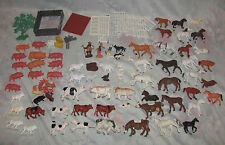 Large lot of Vintage Britains and other Plastic Farm Animals, Horse, Cows, Pigs,