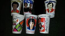7-11 Slurpee Cups Lot 6 Pointer Sisters Average White Band Johnny Nash Essex