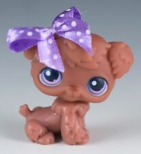 Littlest Pet Shop Poodle #39 Brown With Pink and Purple Eyes