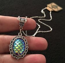 Mermaid Necklace Dragon Egg Pendant Game Of Thrones Little Ariel Scale Charm Sin