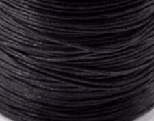 LACCIO FILO CORDINO cerato nero bigiotteria bracciale collana fai da te 10 metri