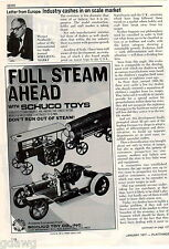 1977 ADVERT Schuco Toys Co Steam Engine Log Timber Hauler Brass Car