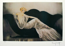 "LOUIS ICART ""LOVESEAT"" Signed Limited Edition Small Giclee Art"