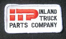 "INLAND TRUCK PARTS EMBROIDERED SEW ON PATCH COMPANY~ ITP Wichita Kansas 4"" x 2"""