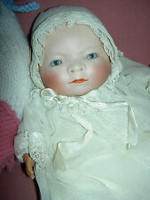 """Precious antique German bisque """"Bye-Lo"""" baby doll sgnd Grace Putnam stamped body"""