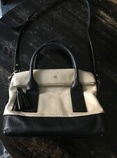 Kate Spade Southport Avenue Carmen Bag Purse Black & Beige Vguc