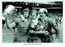 WHELAN GROBBELAAR & LAWRENSON Liverpool Legends Signed Autograph Photo AFTAL COA