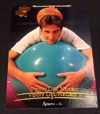 VINNY DEL NEGRO 1995-96 Upper Deck ERROR Double Name Logo SCARCE #12 Spurs 1/1?