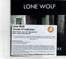 (DS191) Lone Wolf, Ghosts of Holloway - 2013 DJ CD