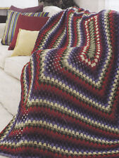 Crochet Pattern ~ STAINED GLASS WINDOW AFGHAN ~ Instructions