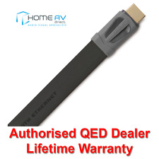 QED Performance EFLEX HDMI Lead - 4k 3D Thin Flat Slim - QE7502 - 2m Graphite
